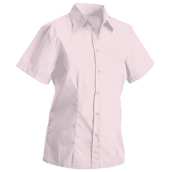 James & Nicholson Ladies Blouse Short pink/rot