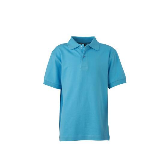 James & Nicholson Classic Polo Junior blau