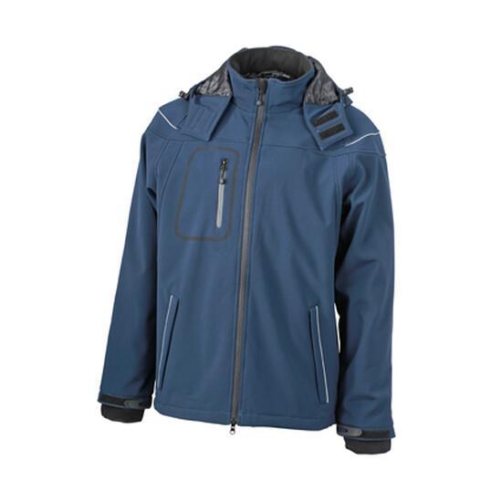 James & Nicholson Men?s Winter Softshell Jacket blau