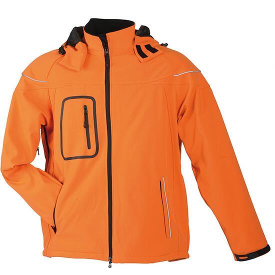 James & Nicholson Men?s Winter Softshell Jacket orange
