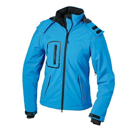 James & Nicholson Ladies Winter Softshell Jacket blau