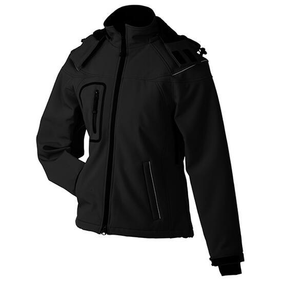 James & Nicholson Ladies Winter Softshell Jacket schwarz