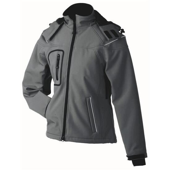James & Nicholson Ladies Winter Softshell Jacket grau