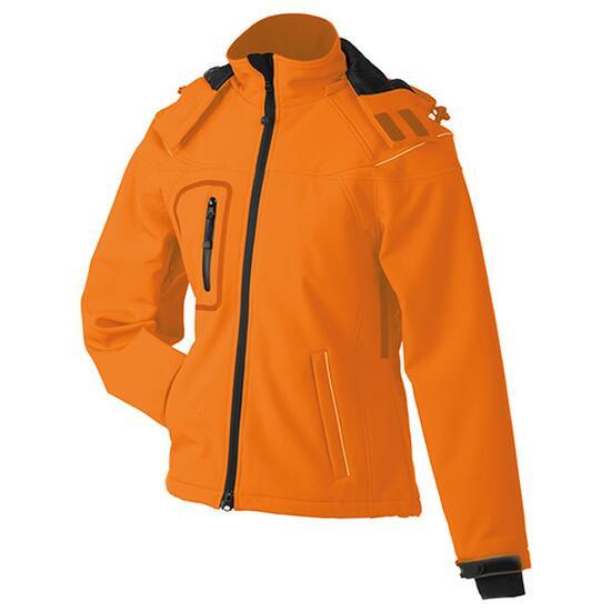 James & Nicholson Ladies Winter Softshell Jacket orange