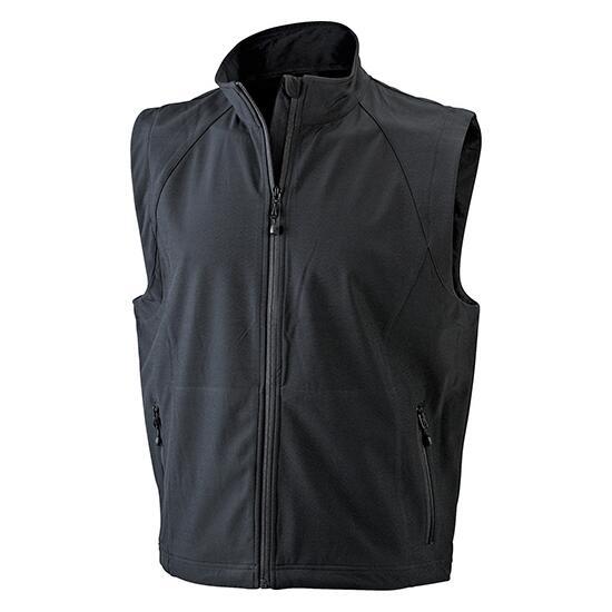 James & Nicholson Mens  Softshell Vest schwarz