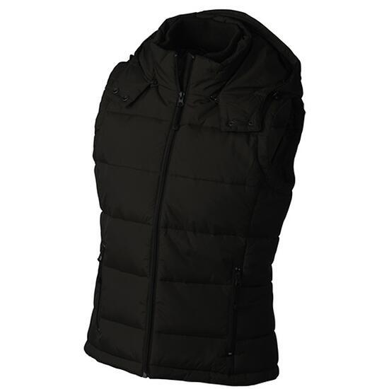 James & Nicholson Ladies Padded Vest schwarz