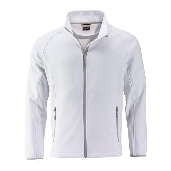 James & Nicholson Mens Promo Softshell Jacket weiß