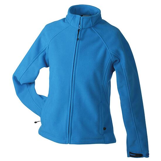 James & Nicholson Ladies Bonded Fleece Jacket blau