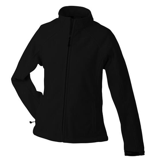 James & Nicholson Ladies Bonded Fleece Jacket schwarz/rot