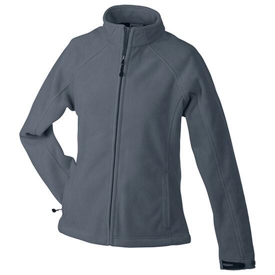 James & Nicholson Ladies Bonded Fleece Jacket schwarz/grau