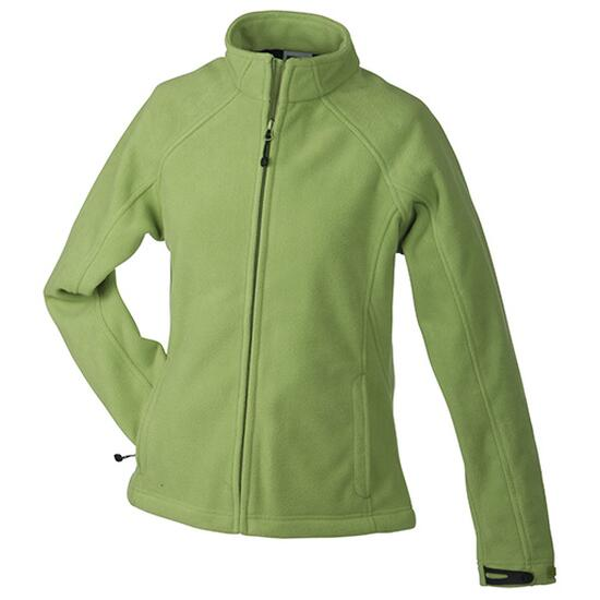 James & Nicholson Ladies Bonded Fleece Jacket blau/grün