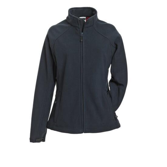 James & Nicholson Ladies Bonded Fleece Jacket rot/blau
