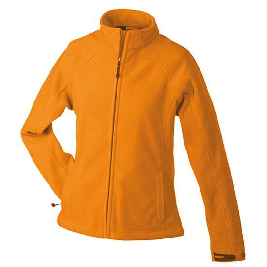 James & Nicholson Ladies Bonded Fleece Jacket orange/grau