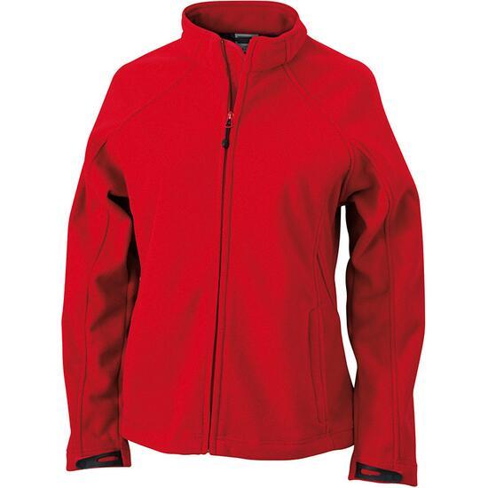 James & Nicholson Ladies Bonded Fleece Jacket rot/grau