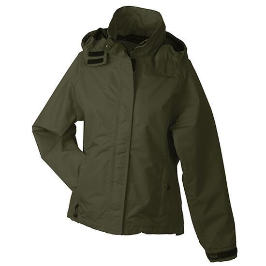 James & Nicholson Ladies Outer Jacket braun/grün