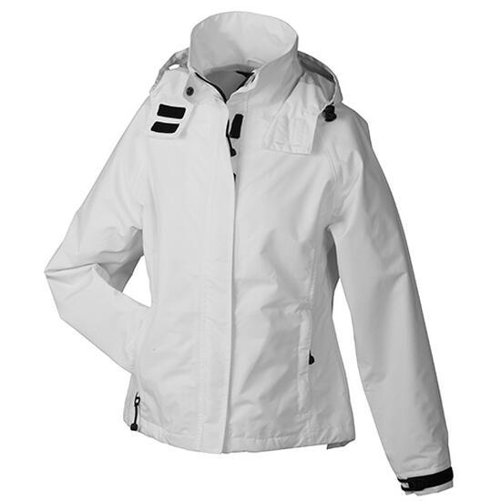 James & Nicholson Ladies Outer Jacket weiß