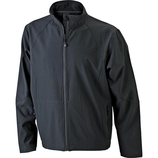 James & Nicholson Mens Softshell Jacket schwarz