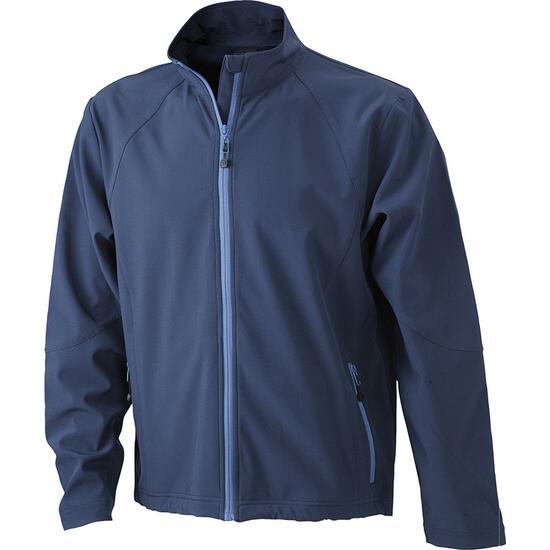 James & Nicholson Mens Softshell Jacket blau