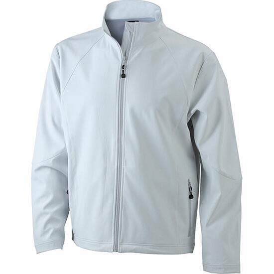 James & Nicholson Mens Softshell Jacket weiß