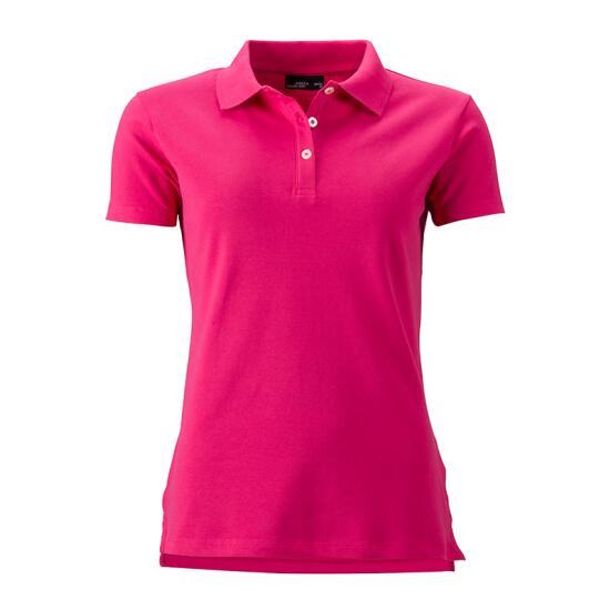 James & Nicholson Ladies Elastic Piqué Polo pink