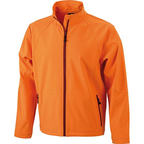 James & Nicholson Mens Softshell Jacket orange