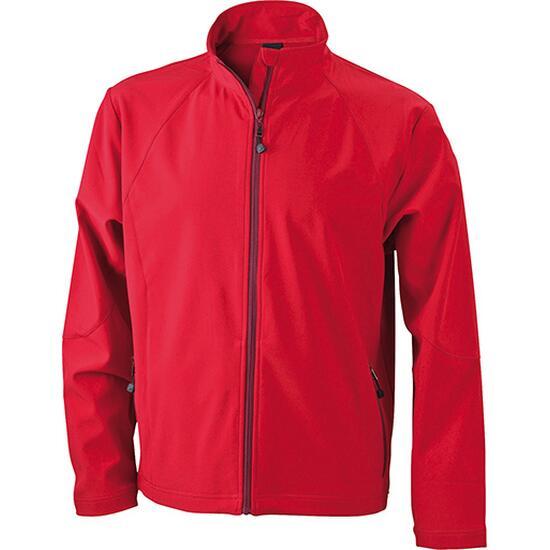 James & Nicholson Mens Softshell Jacket rot