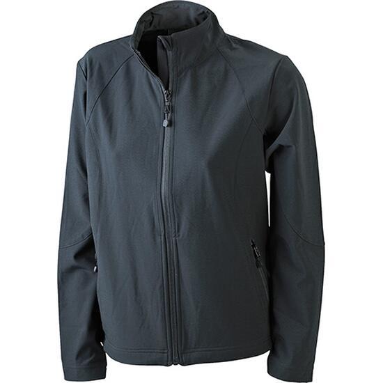 James & Nicholson Ladies Softshell Jacket schwarz