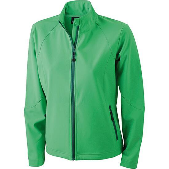 James & Nicholson Ladies Softshell Jacket grün
