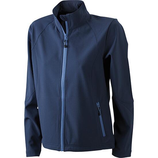James & Nicholson Ladies Softshell Jacket blau