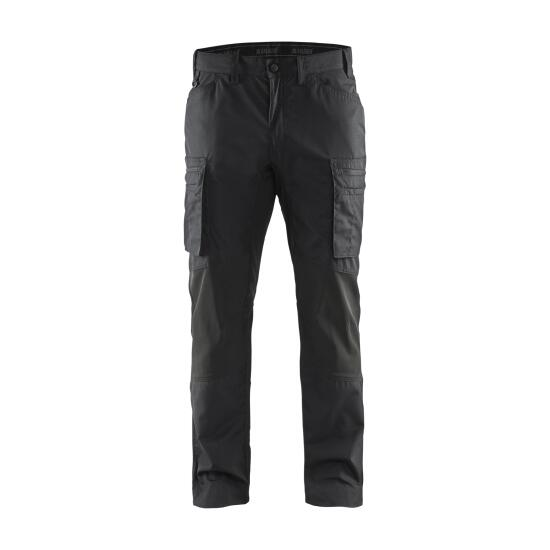 Service trousers with stretch panels Schwarz