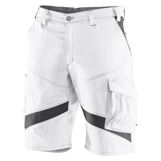 KÜBLER ACTIVIQ Shorts weiß/anthrazit