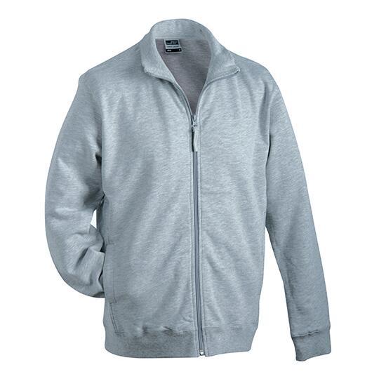 James & Nicholson Sweat Jacket grau