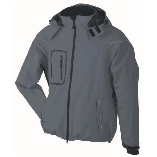 James & Nicholson Men's Winter Softshell Jacket grau