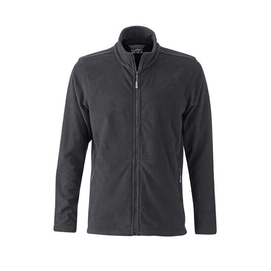 James & Nicholson Mens Basic Fleece Jacket schwarz