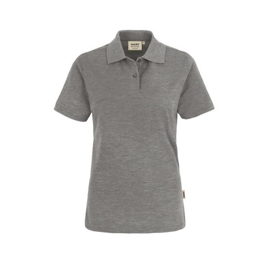 Hakro Damen-Poloshirt Top grau meliert