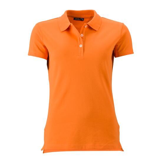 James & Nicholson Ladies Elastic Piqué Polo orange