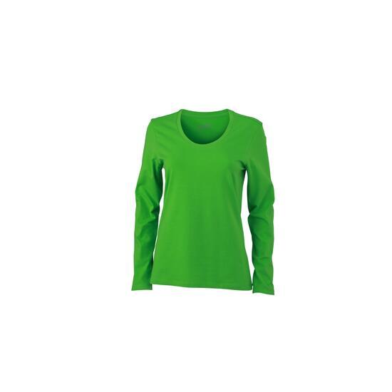 James & Nicholson Ladies Stretch Shirt Long-Sleeved grün