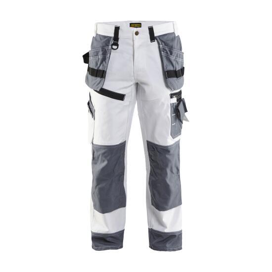 X1500 Maler Bundhose Weiß/Grau