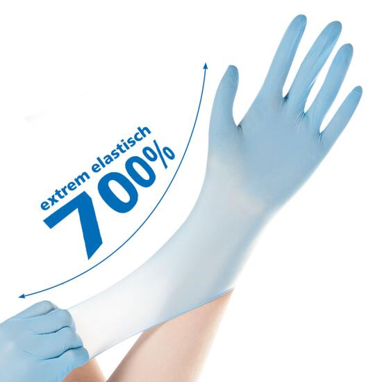 Nitril-Handschuh SAFE SUPER STRETCH blau, puderfrei