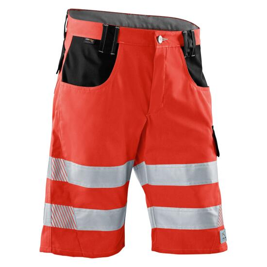 KÜBLER REFLECTIQ Shorts PSA 2 warnrot/schwarz