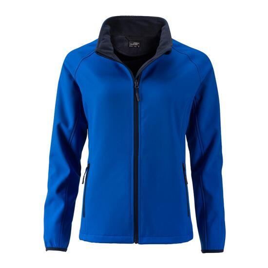 James & Nicholson Ladies Promo Softshell Jacket blau