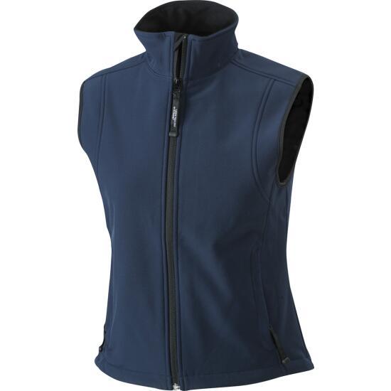 James & Nicholson Ladies Softshell Vest blau