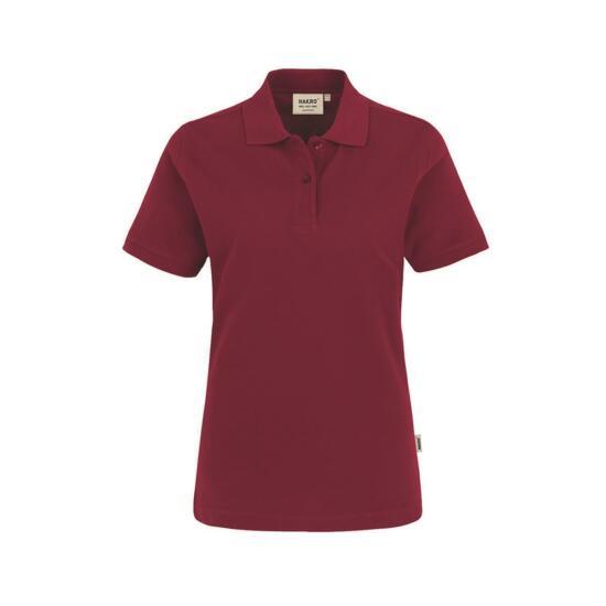 Hakro Damen-Poloshirt Top weinrot
