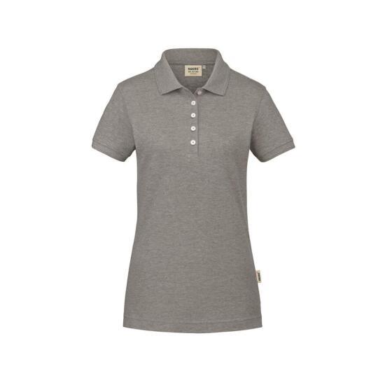Hakro Damen-Poloshirt GOTS-Organic grau meliert