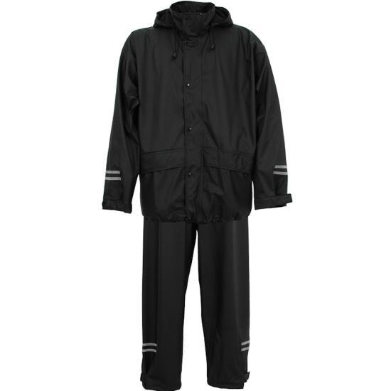 PU-Stretch-Anzug, Charlie, schwarz