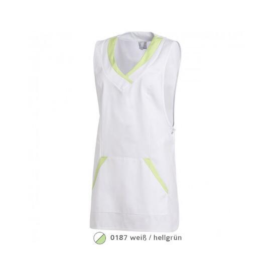 Überwurfschürze weiß/hellgrün