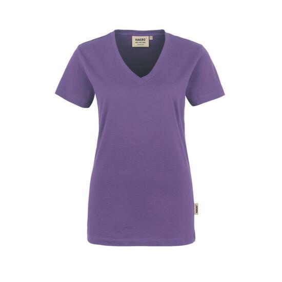 Hakro Damen-V-Shirt Classic lavendel
