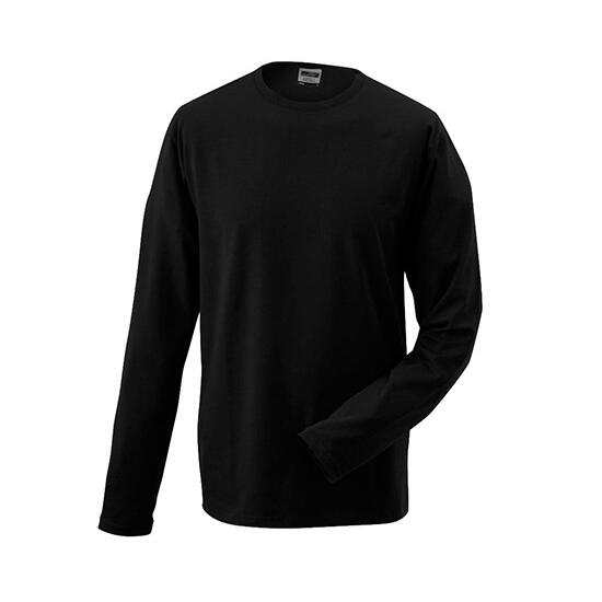 James & Nicholson Elastic-T Long-Sleeved schwarz